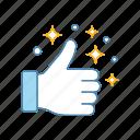 gesture, good, hand, like, nice, ok, thumbs up icon