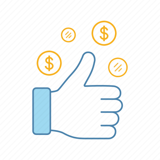 business, deal, dollar, financial, money, success, thums up icon
