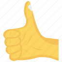 complete, done, gesture, hand, ok icon