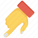 arrow, finger, gesture, hand, interactive icon