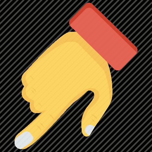 arrow, finger, gesture, hand, interactive icon