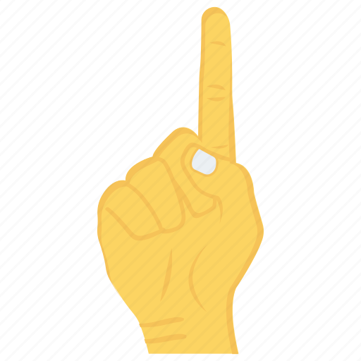 finger, gesture, hand, interactive, up icon