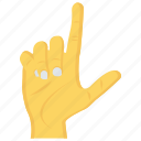 finger, gesture, hand, interactive, touch icon