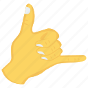 finger, gesture, hand, interactive, thumb icon