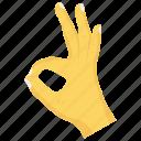 gesture, hand, interactive, ok, wrist icon