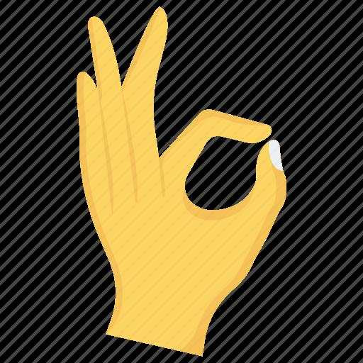 finger, gesture, hand, interactive, ok icon
