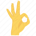 gesture, hand, interactive, ok, wrist