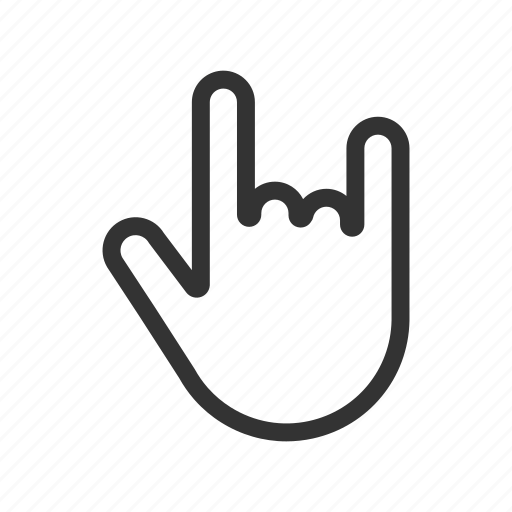 metal, music, rock gesture, rock hand, sign icon