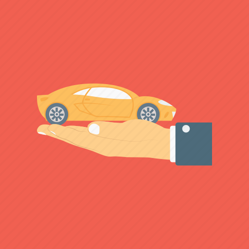 automobile leasing, car rental service, car selling, giving a toy, offering a car icon