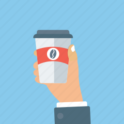 coffee, coffee cup, disposable cup, hot beverage, takeaway food icon