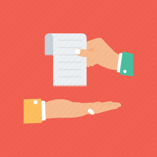 document sharing, hand giving paper list, hand holding paper, handing out paper, list presenting icon