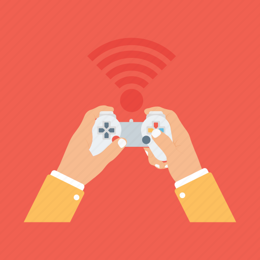 gamepad, gaming concept, operating device, video game controller, wireless joystick icon