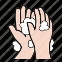cleaning, coronavirus, hand, health, hygiene, wash, washing icon