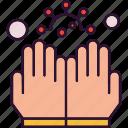 coronavirus, gloves, hand, latex, protection