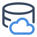 cloud, cloud data, data, database icon