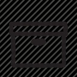archive, box, open icon