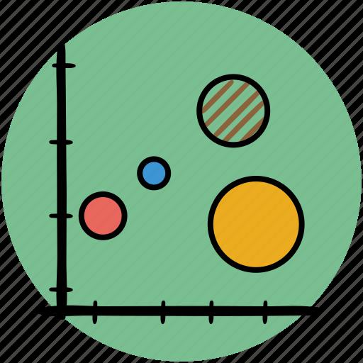 analytics, bubble, business, chart, graph, graphs, statistics icon