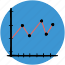 analytics, business, chart, graphs, line, outline, statistics icon