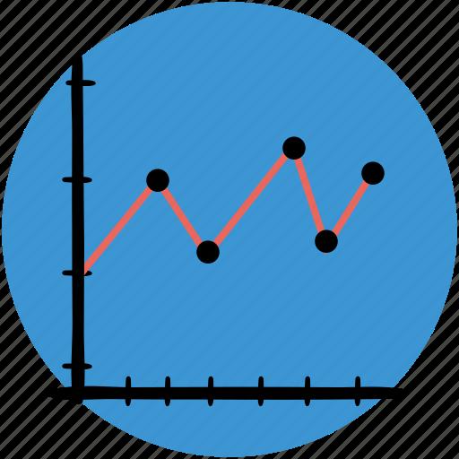 analytics, business, chart, graphs, line, outline, statistics icon