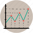 analytics, business, chart, graph, graphs, line, outline icon