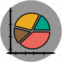 analytics, chart, diagram, graph, graphs, pie, statistics icon