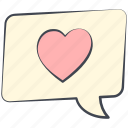 love, love cloud, love conversation, lovely, message, valentine, valentine's day icon