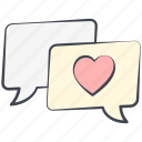 comic cloud, love, love cloud, love conversation, lovely, valentine, valentine's day icon