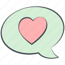 cloud, comic cloud, love, love message, lovely, valentine, valentine's day icon