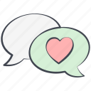 chat, love, love message, lovely, valentine, valentine's day icon