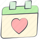 calendar, february, love, lovely, schedule, valentine, valentine's day icon