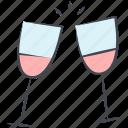 glasses, love, lovely, marriage, valentine, valentine's day, wedding icon