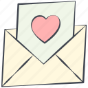 letter, love, love message, lovely, post card, valentine, valentine's day icon