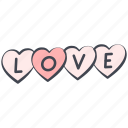 inscription, love, love graffiti, lovely, valentine, valentine's day icon