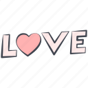 graffiti, love, love inscription, lovely, valentine, valentine's day icon