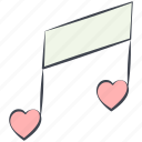love, love song, lovely, note, tune, valentine, valentine's day icon