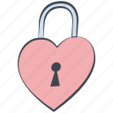 heart lock, love, lovely, padlock, valentine, valentine's day icon