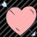 arrow, broken heart, heart, love, lovely, valentine, valentine's day