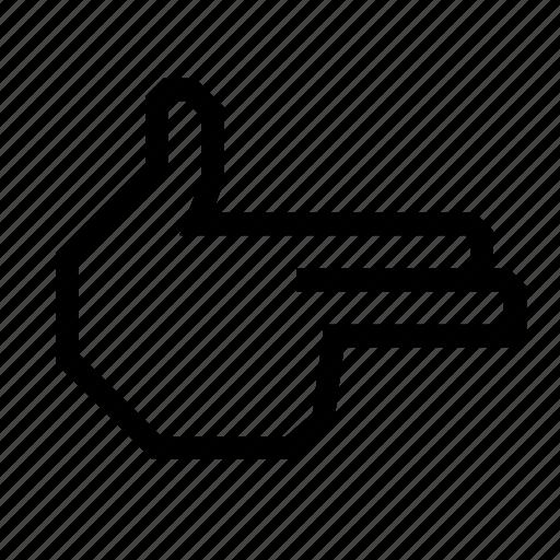 fingergun, gun, hand, pistol, pointing icon
