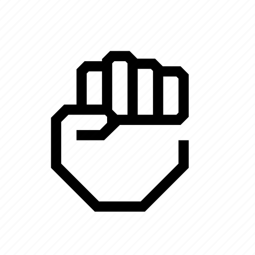 fist, force, hand, no fingers, power, revolution icon