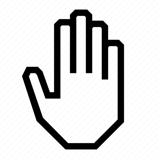 five, full, hand, highfive, palm, stop icon