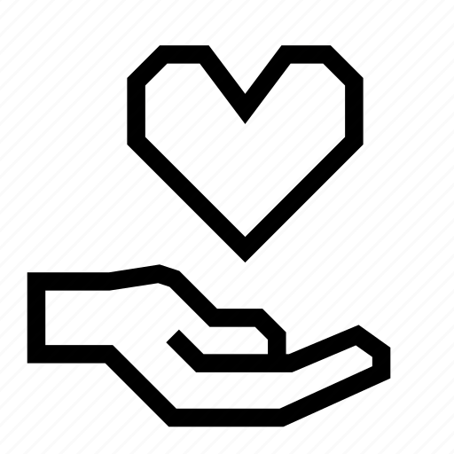 care, hand, heart, hold icon