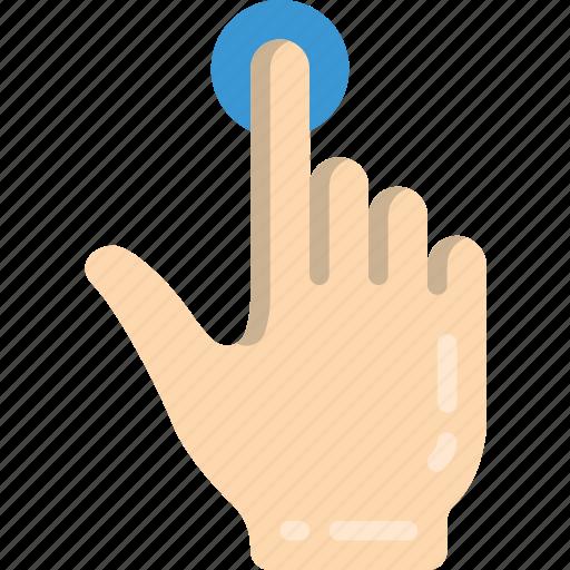 finger, press, single icon