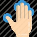 press, finger