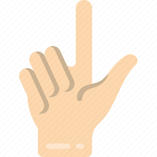 counting, finger, one icon