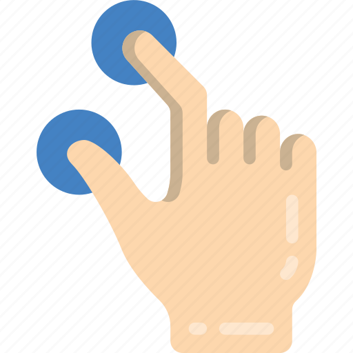 pinch, tap icon