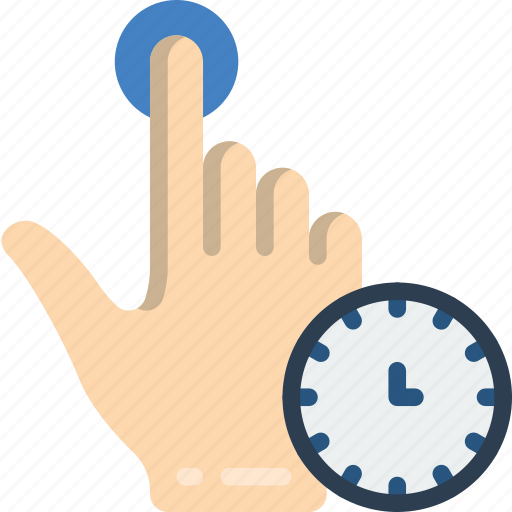 press, timed icon