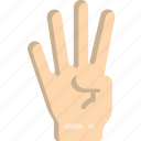 count, finger, four icon