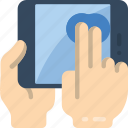 finger, tablet, tap, two icon