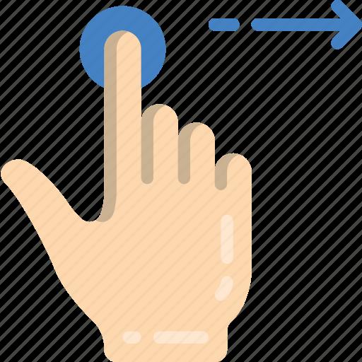 Finger, single, swipe icon - Download on Iconfinder