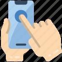 mobile, single, tap icon